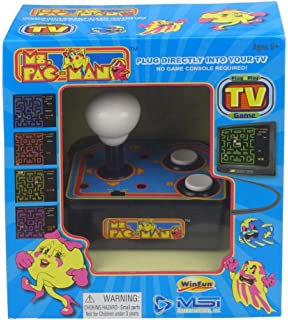 Pac-Man Plug /& Play W// 5 TV Games And Original 80s Arcade Action Toy Game Namco Ms