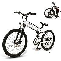 SAMEBIKE Bicicletas Eléctricas de Montaña de 26 Pulgadas Motor de 500W con Batería Extraíble de 48V 10 Ah, Bicicletas…
