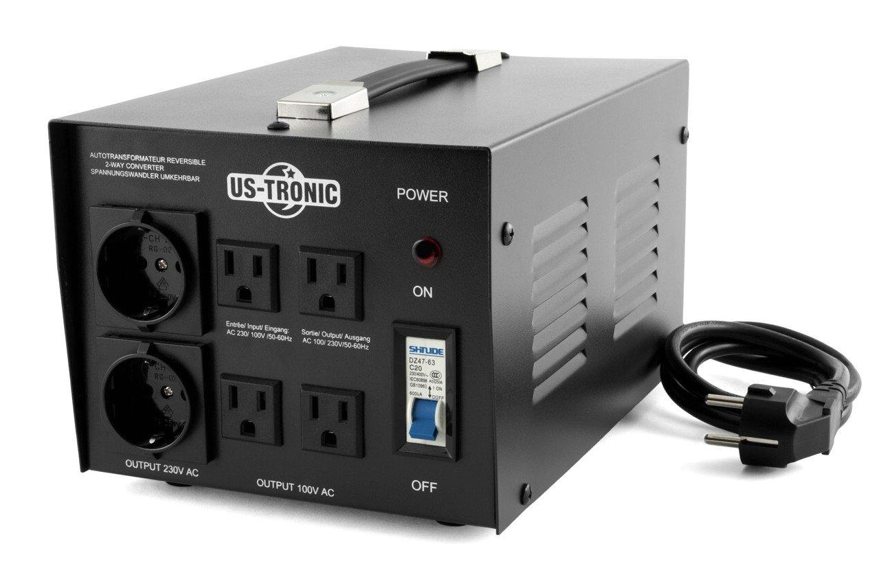 Spannungswandler. 220V-110V. 2000W. umkehrbar von Us-Tronic.