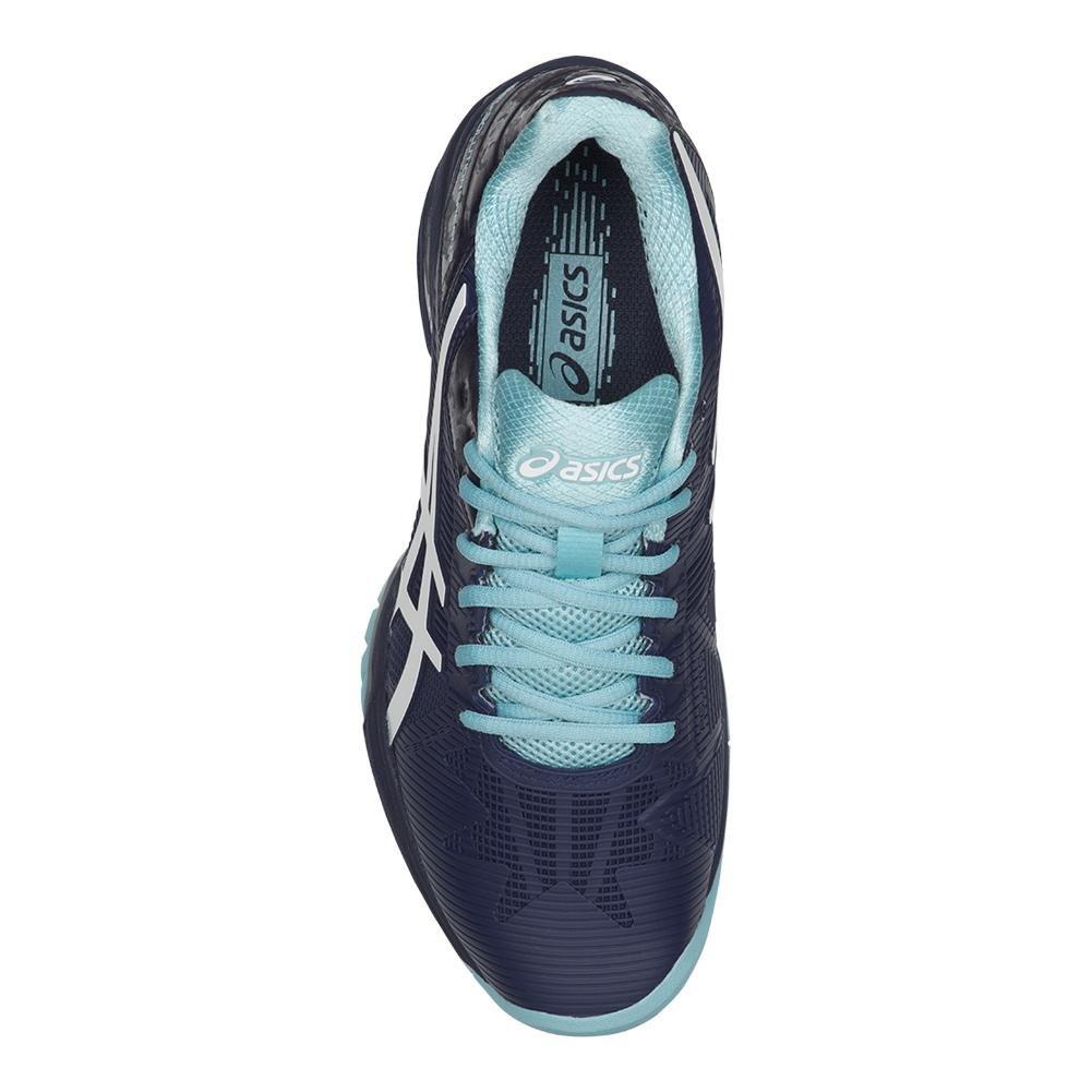ceb7831b05ab6 Zapatillas de tenis ASICS Gel-Solution Speed 3 para mujer Azul Indigo    Blanco   Azul Porcelana