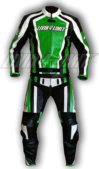4LIMIT Sports 200100000609 Traje para Moto de Cuero, Verde ...