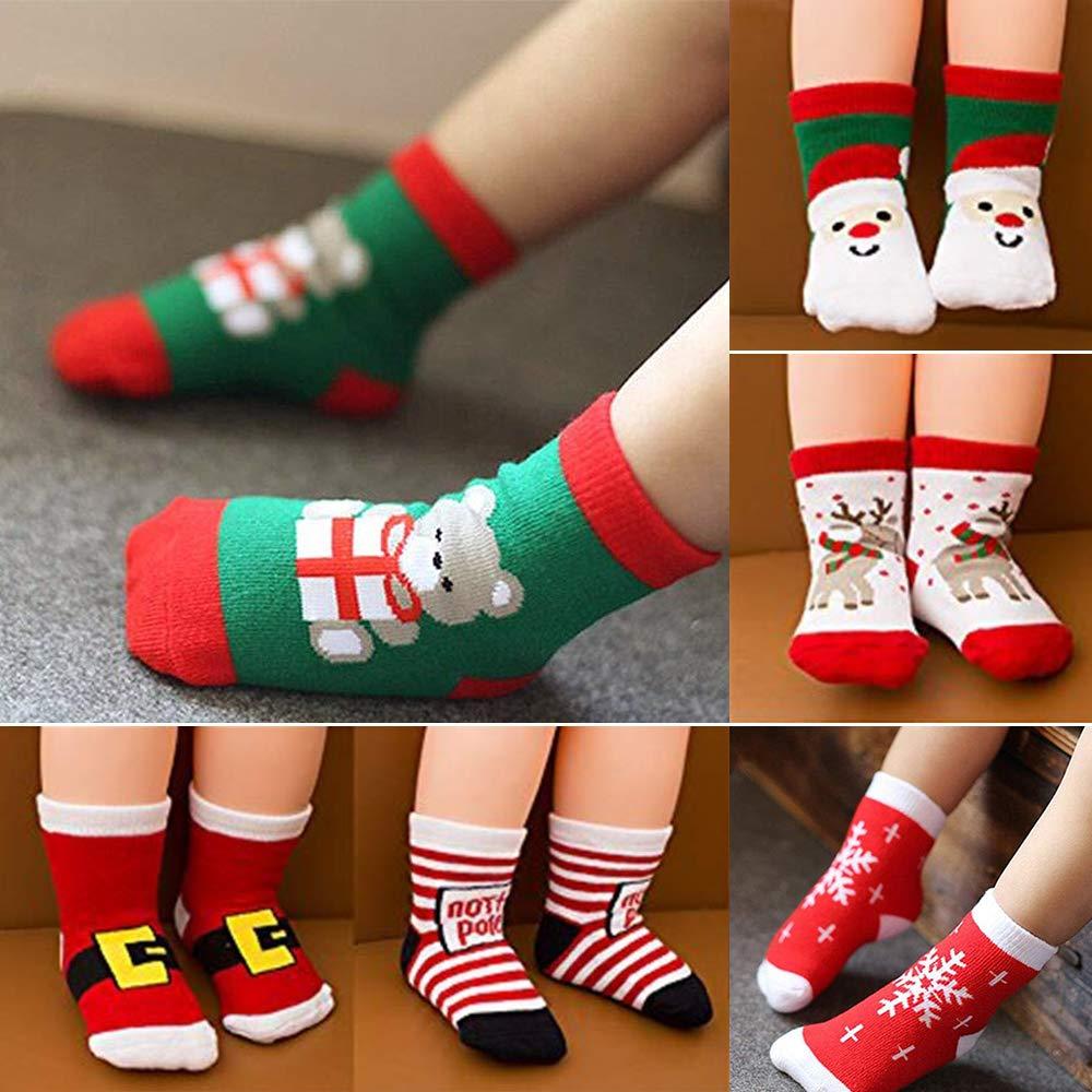 MMTX Weihnachten Socke Baumwolle Tier Weihnachtsmann 6 Paar ...