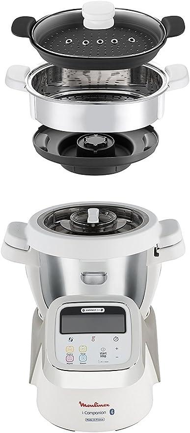 Moulinex I-Companion Robot de cocina con capacidad para 6 personas, conectado a través de aplicación móvil, temperatura ajustable hasta 130º C, incluye 5 accesorios: Amazon.es: Hogar