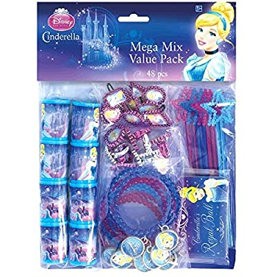 Disney Cinderella Assorted Birthday Party Favour Value Pack (48 Pack), Multi Color.: Toys & Games