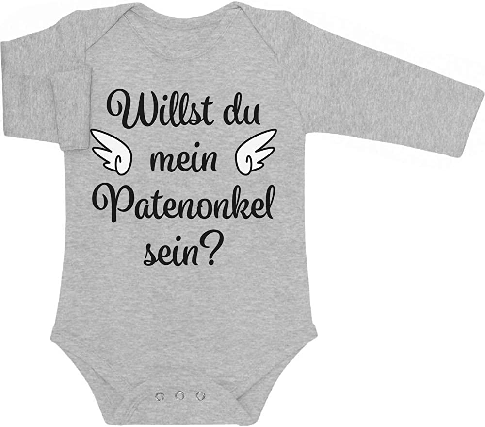 Willst du Mein Patenonkel Sein Baby Langarm Body Shirtgeil Geschenkidee