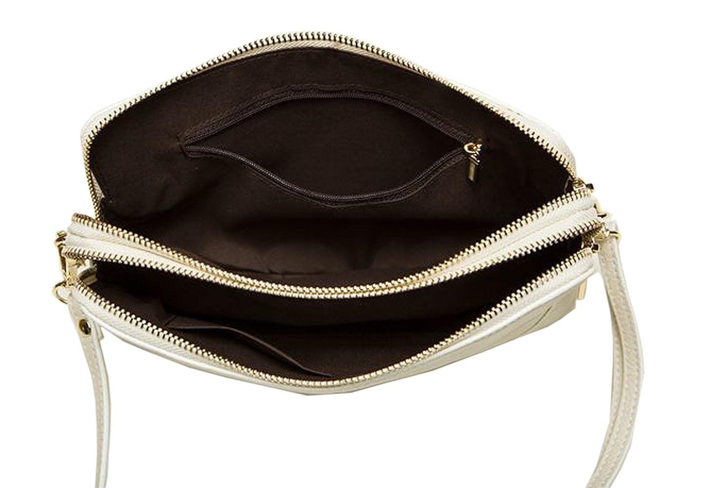 3ac031b4ce SAIERLONG Ladies Designer Womens Black Genuine Leather Clutches bag Cross  Body Bags Shoulder Bags Wristlets Cui01