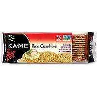 Ka-Me Gluten Free Rice Crackers, Black Sesame & Soy, 3.5 Ounce (Pack of 12)