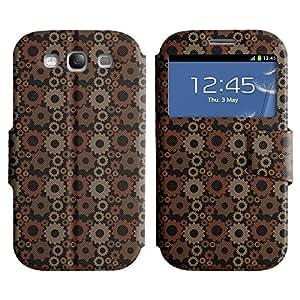 LEOCASE rueda dentada Funda Carcasa Cuero Tapa Case Para Samsung Galaxy S3 I9300 No.1003049