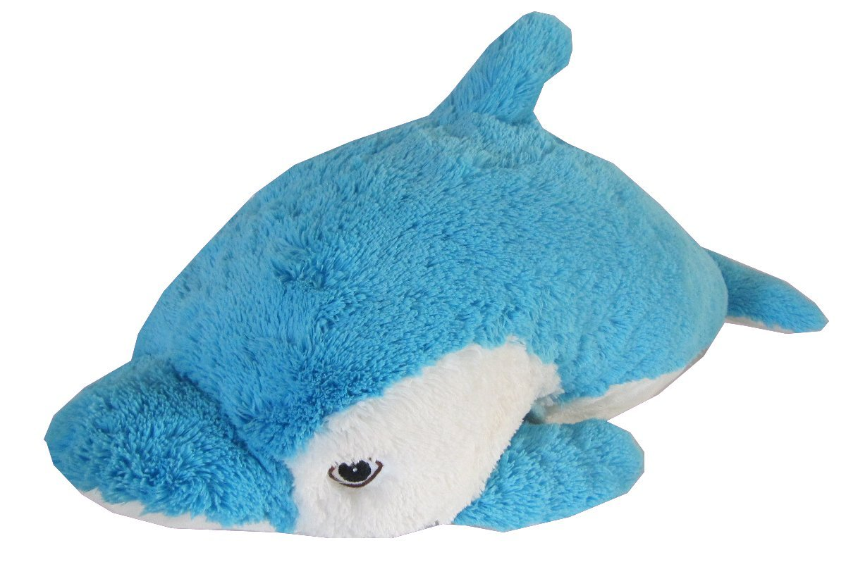 Dolphin Zoopurr Pets 2-in-1 Stuffed Animal and Pillow Large 19''