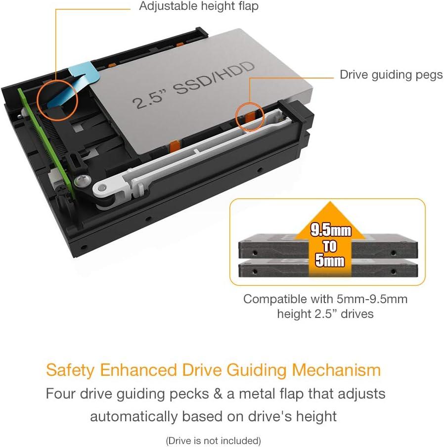 2 x 2.5 HDD/SSD SAS/SATA para 3.5