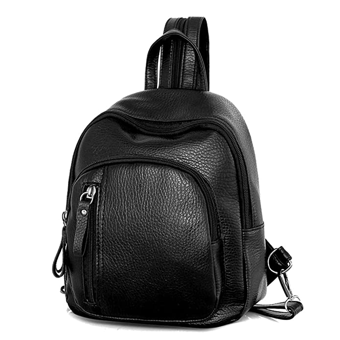 09ce8dfb446c Fashion PU Leather Shoulders Handbag Schoolbag Women Girls Ladies Backpack  Travel Bag