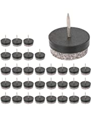 Furniture Nails, LOUFIMIDON Furniture Protection Felt Pad Skid Glide Chair Table Leg Nails 32 Pack