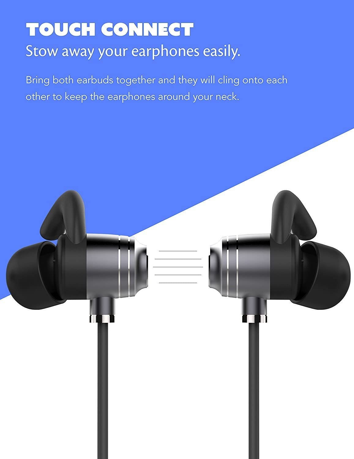 Boxgear LG Optimus G E975 Bluetooth Headset in-Ear Running Earbuds IPX4 Waterproof with Mic Stereo Earphones CVC 6.0 Noise Cancellation Works with Samsung,Google Pixel,LG Apple