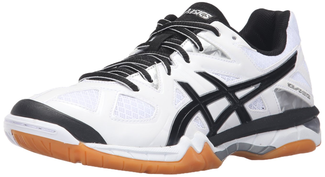 ASICS Women's Gel Tactic Volleyball Shoe B017X2F4HQ 9 B(M) US|White/Black/Silver