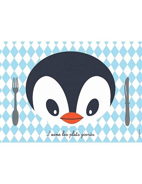 Juego de mesa infantil, diseño de pingüino: Amazon.es: Hogar
