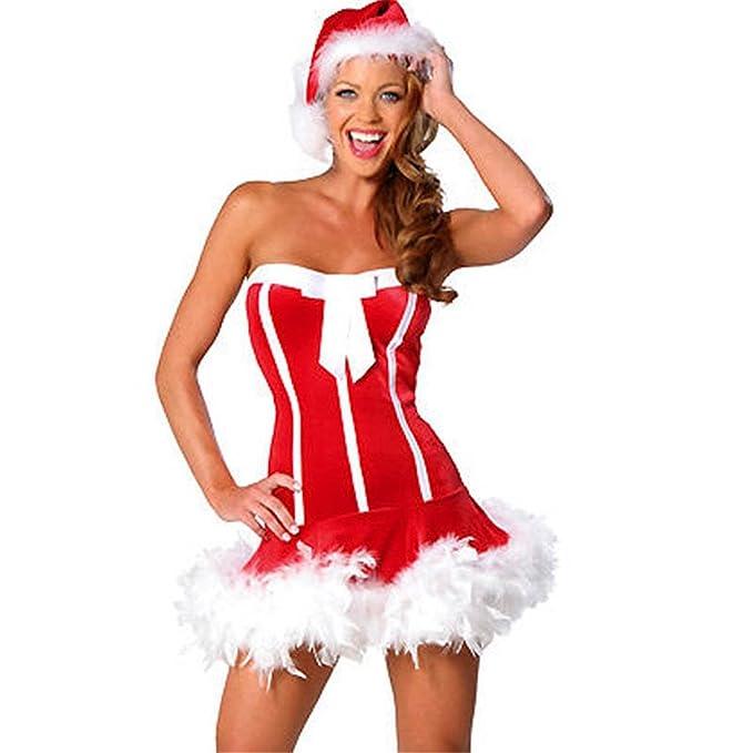 YeeHoo Disfraz De Mamá Noel Cordón del Vestido Rojo: Amazon ...