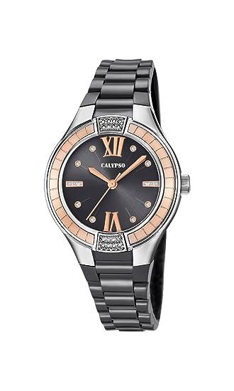 Calypso Reloj Análogo clásico para Mujer de Cuarzo con Correa en Plástico K5720/4: Amazon.es: Relojes