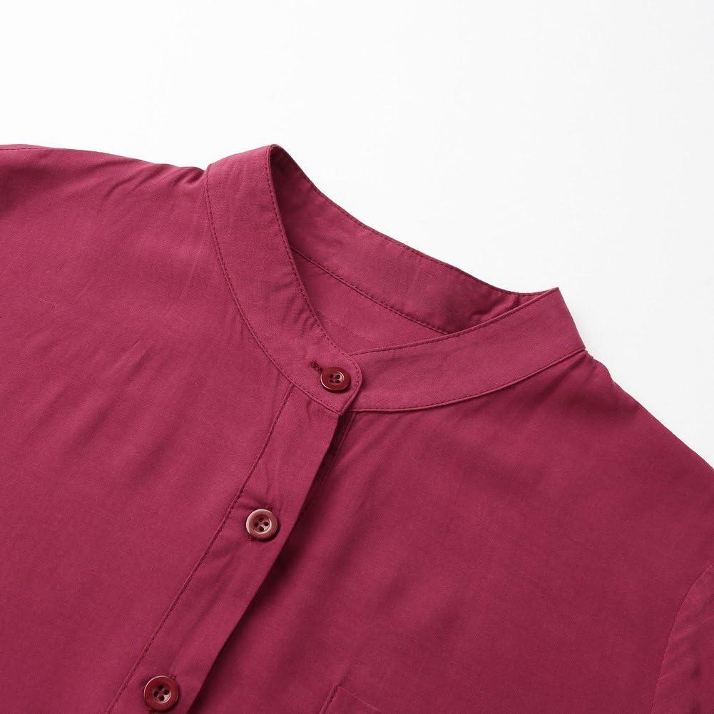 Romacci Women Shirt Dress Long Button-Down Shirts Blouse Dress Retro Casual Long Sleeve Maxi Loose Fit