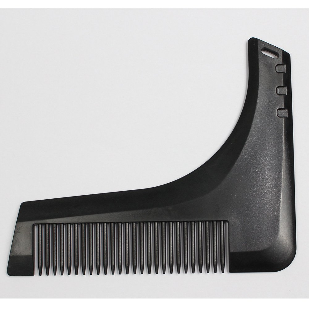 Improved Men's Beard Mustache Beard Bro Shaping Shaving PC/ABS material Comb Tools for Perfect Lines Symmetry(Luxurious Black)