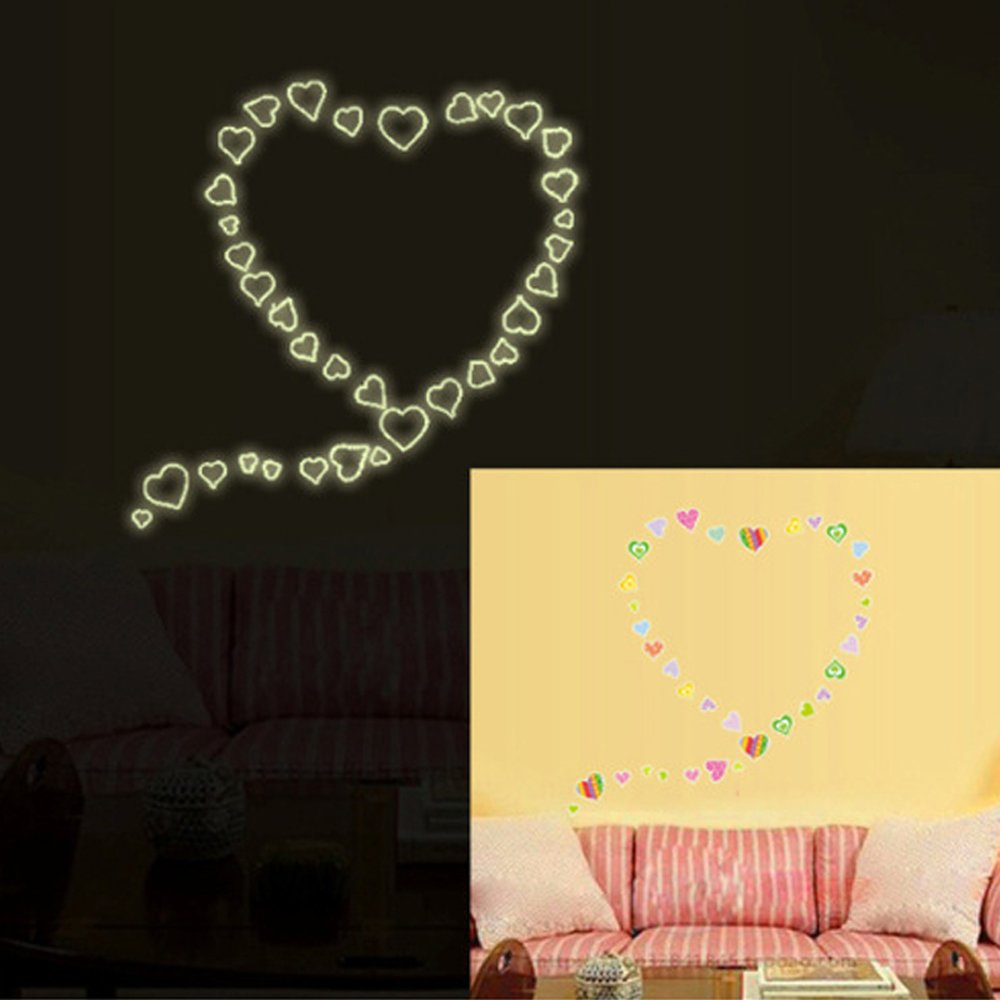Amazon.com: Luminous Animals Wall Stickers Glow in the Dark ...
