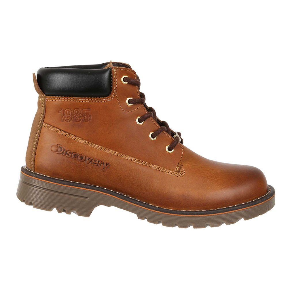 Discovery Expedition Mens Casual Outdoor Leather Lace-up Boot w/Traction Sole Honey 12
