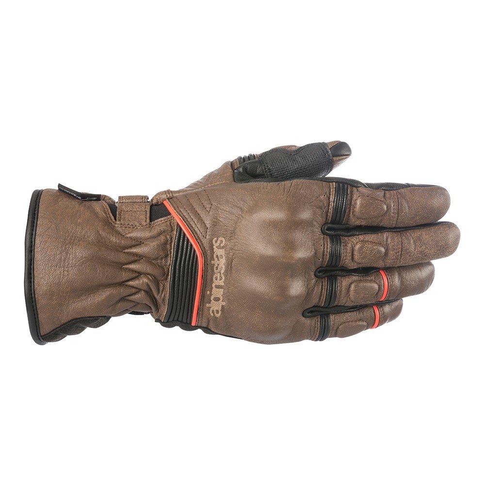 Alpinestars Cafe Divine Mens Leather Gloves Brown/Black 2XL