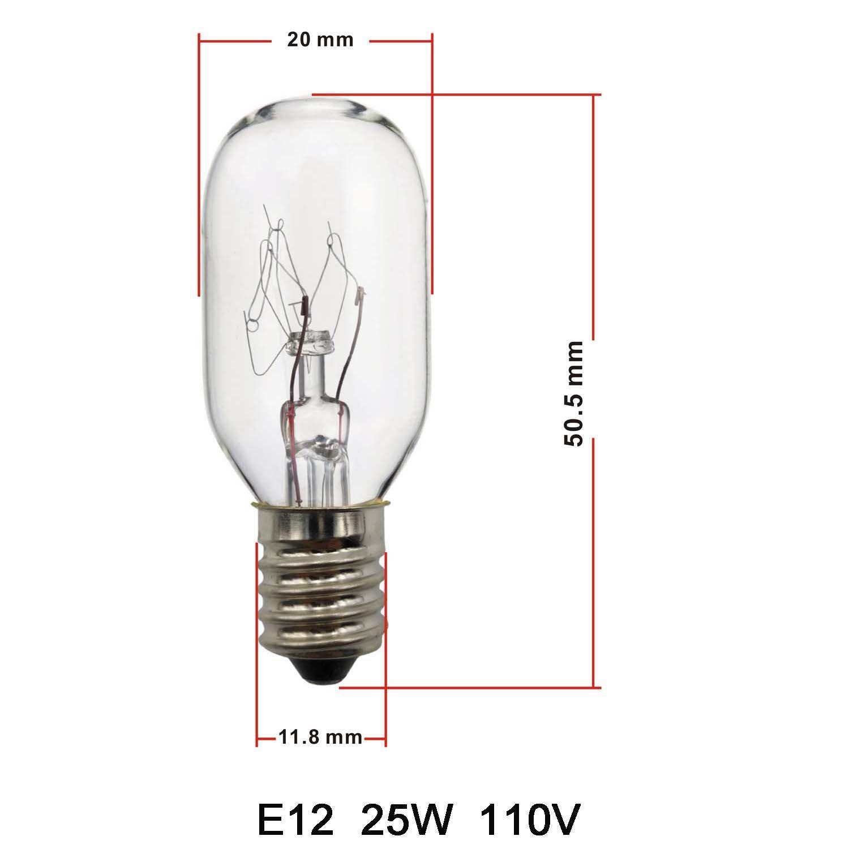 E12 25W Himalayan Salt Lamp Replacement Bulbs 12 Pack E12 Socket Incandescent Light Bulbs Adjustable Brightness Kimisky 25 Watt Salt Lamp Bulbs