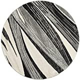 Safavieh Retro Collection RET2691-7912 Modern Abstract Light Grey and Ivory Round Area Rug (6′ Diameter)