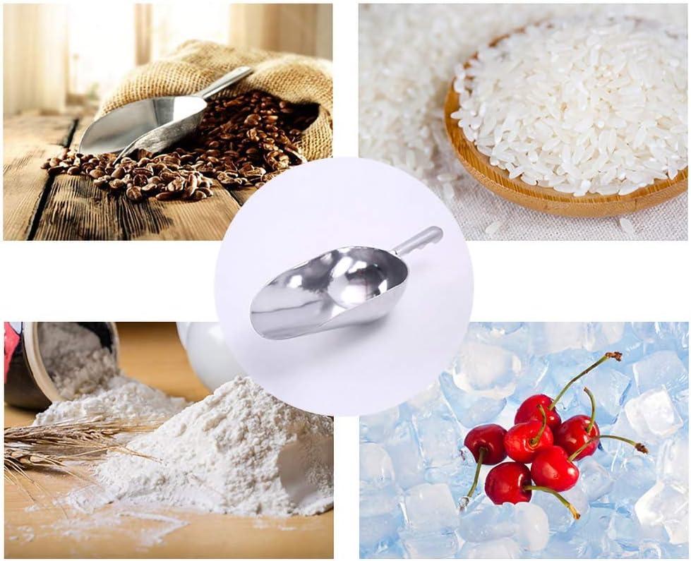 PowerBH Multifunktions-Aluminium-Eisschaufelmehl-Getreide-Fischrogen-Nahrungsmittelschaufel-Eisl/öffel der hohen Qualit/ät