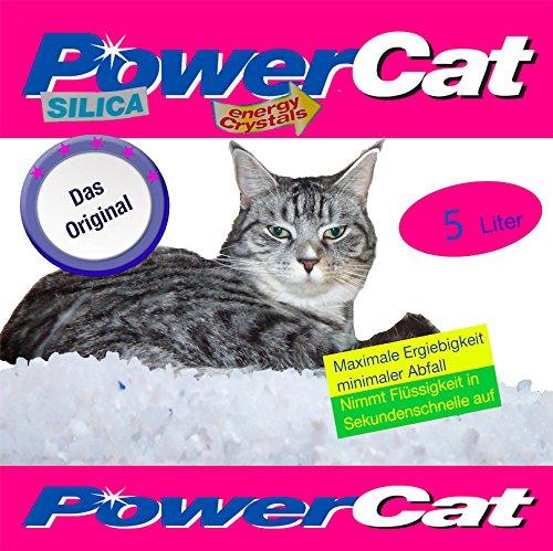 Arena para gatos de Power Cat Silica, 6 sacos de 5 L=30 L: Amazon.es: Productos para mascotas