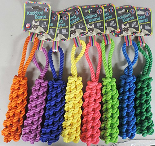 - KNOTTED BARREL ROPE DOG TOY ASSORTMENT