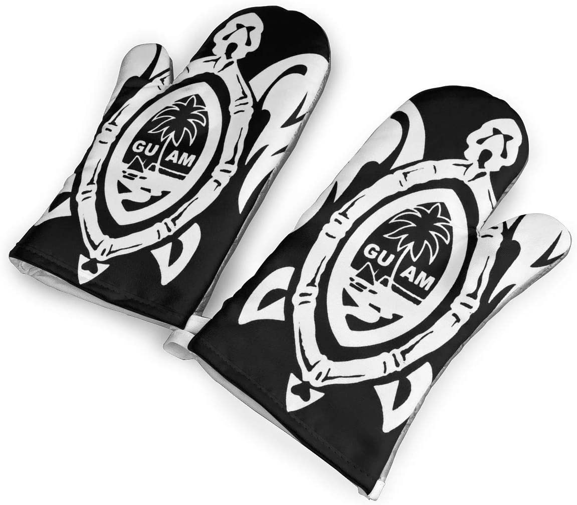 Feederm Guam Seal In A Tribal Turtle Designs Personality Oven Mitt For Kitchen A Pair Of Gloves Heat Resistant Gloves Oven Bbq Grilling Amazon Co Uk Kitchen Home