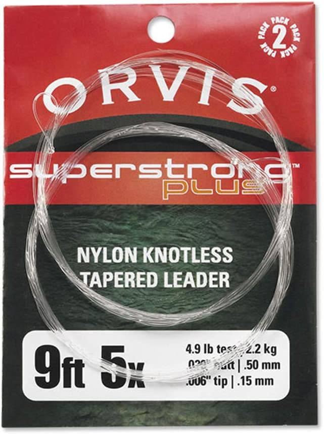 Orvis Superstrong Plus Nylon Knotless Tapered Leader 2 Pack