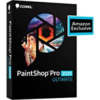 Corel | PaintShop Pro 2020 Ultimate | Photo Editing and Graphic Design | Amazon Exclusive Includes Free ParticleShop Plugin and 5-Brush Starter Pack Valued at $39 [PC Disc]