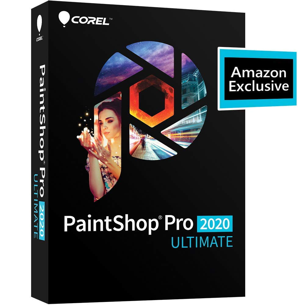 Corel PaintShop Pro 2020 Ultimate - Photo Editing & Graphic Design with ParticleShop Plugin and 5-Brush Starter Pack [PC Disc] by Corel