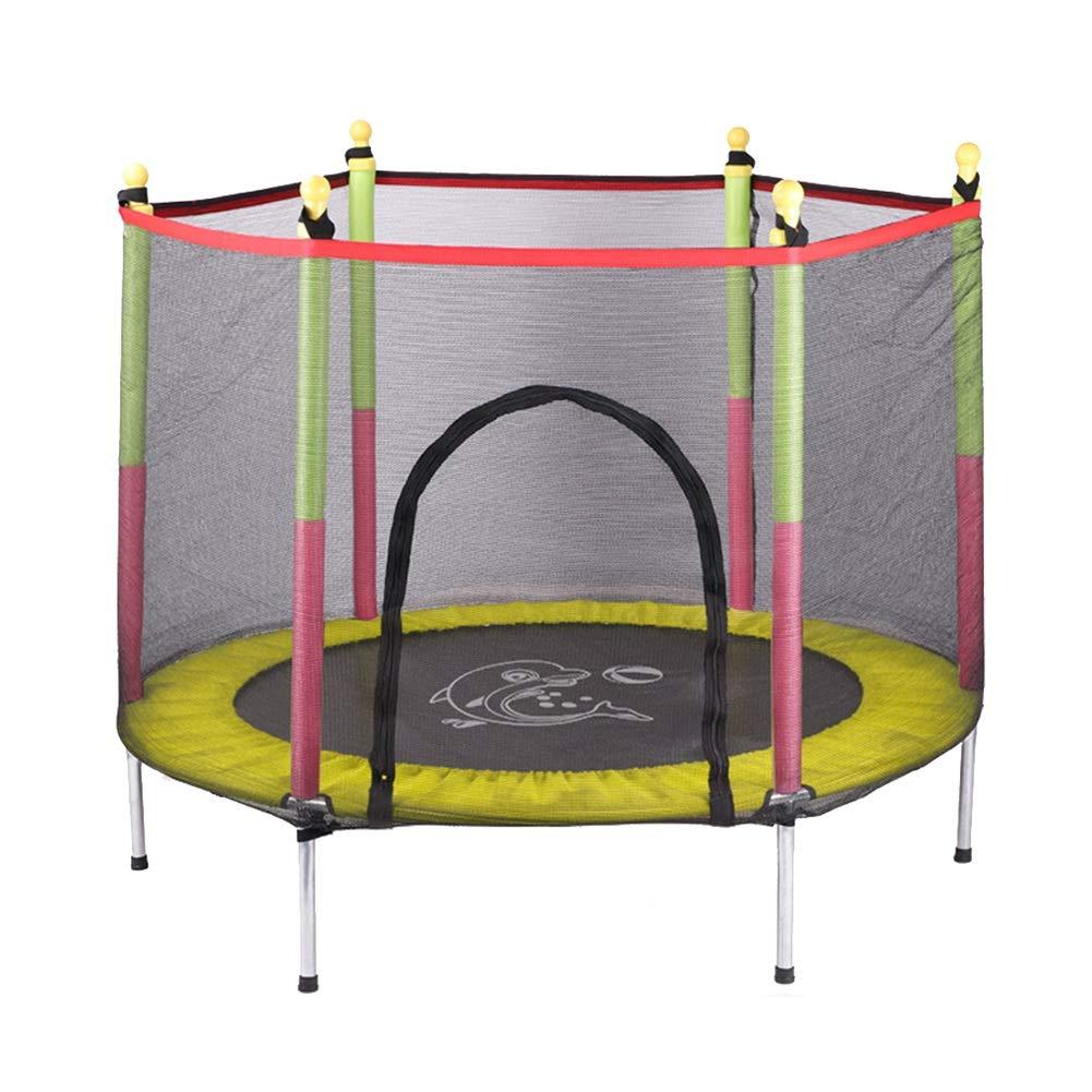 安全パッドが付いている55インチのトランポリン、屋内庭の試しの心臓トレーニングのため、子供のための楽しみの小型適性トランポリン (色 イエロー : 青) B07MJBXLJ5 (色 イエロー イエロー いえろ゜ イエロー いえろ゜, BESTLIFE:e416fba6 --- krianta.com