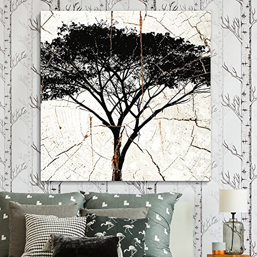 Square African Tree Wood Effect