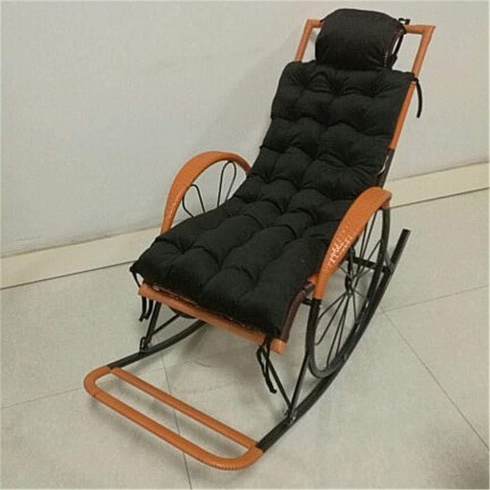 49x18inch Coussin De Loisirs /Épaississant Remplacement Anti-d/érapant Patio De Jardin Inclinable Ext/érieur Daylight Rocking Chair Cushion Rocking Chair Cushion Color : 1, Size : 125x46cm