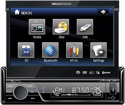Soundstream vir-7830t Single-DIN en el tablero receptor DVD, MP3, MP4, DIVX con 7