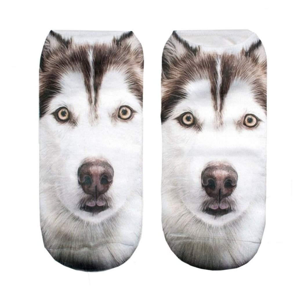 CHIC Funny Sock Dog Cartoon Animal Print For Woman Man Boy Girl Chic Fashion