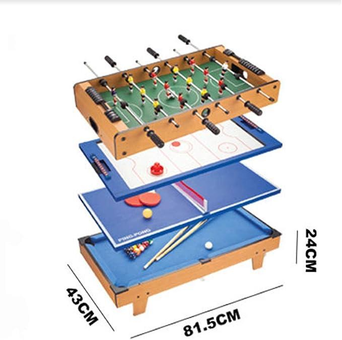 Futbolín Multijuego Mesa 4 en 1 De Billar Disco de Ping Pong ...