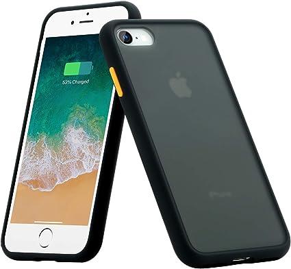 BENKS Cover iPhone 7 Cover iPhone 8, Custodia iPhone 8 7 Antiurto Antiscivolo Protezione in Silicone TPU PC Case per iPhone 7/8 4.7 Pollici - Nero