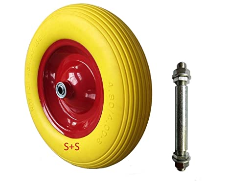 Rueda para carretilla, rueda de repuesto, poliuretano