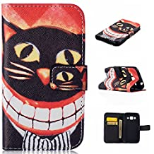 Galaxy Core Prime Case, Galaxy Prevail LTE Case, GNT(TM) Galaxy Core Prime Wallet Case, Luxury PU Leather Case Flip Cover with Card Slots Stand For Samsung Galaxy Core Prime G360(Cat)