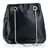 Mesh Chain Mail Bucket Bag Shoulder Bags crossbody bag for Women Metal Mesh Evening Handbags Clutch Purses in Black