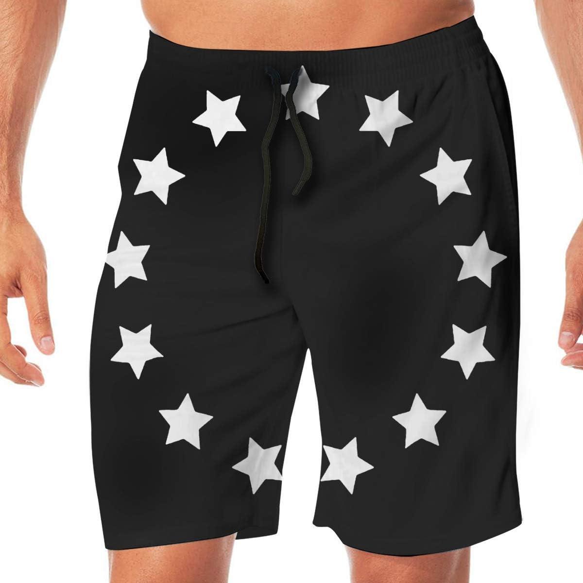 HappyHrs 13 Colonias Stars Betsy Ross Flag USA Shorts Casuales para Hombres estadounidenses Bañador Shorts de Playa