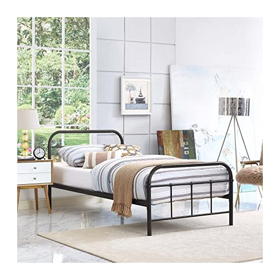 e7960c8ab3aa Modway MOD-5531-WHI-SET Maisie Stainless Steel Bed Frame, Twin ...