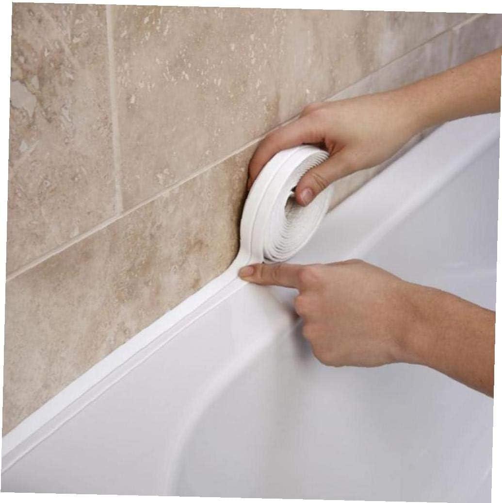 BYFRI 3.2mx38mm Bathroom Shower Sink Bath Sealing Strip Tape White PVC Self Adhesive Waterproof Wall Sticker for Bathroom Kitchen