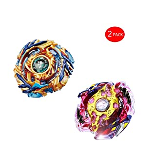 HHUAN 2 Set (Trottola + Launcher ) Beyblade Burst Starter Gyro - Giocattoli Educativi Beyblade - Kids Toy Trottola con Lanciatore Combattenti (B86-Pink+B79)
