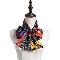 Muffler Printed Silk Scarves Wild Silk Scarf Long Strip Satin Scarf Spring Autumn Thin (Color : 01, Size : 145cm*15cm)